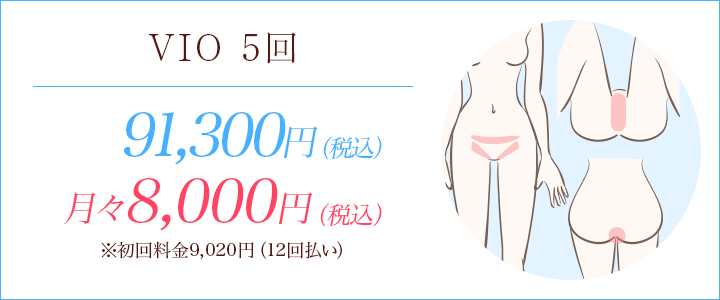 VIO脱毛5回コース